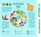 spices infographic design with... | Shutterstock . vector #697808716