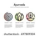 ayurveda vector illustration... | Shutterstock .eps vector #697809304
