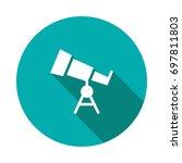 telescope icon | Shutterstock .eps vector #697811803