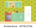 kitchen with furniture. cozy... | Shutterstock . vector #697812706