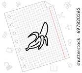 web line icon. banana | Shutterstock .eps vector #697820263