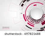 vector digital technology... | Shutterstock .eps vector #697821688