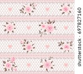 seamless floral pattern. lace... | Shutterstock .eps vector #697827160