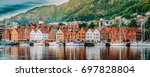 bergen  norway. view of... | Shutterstock . vector #697828804