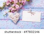 pink  sakura flowers  ... | Shutterstock . vector #697832146