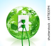 plug into the energy of planet... | Shutterstock .eps vector #69783394