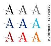letter a | Shutterstock .eps vector #697840510