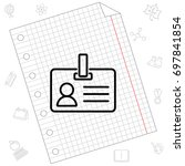 web line icon. business  blank... | Shutterstock .eps vector #697841854