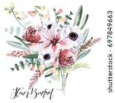 flower bouquet | Shutterstock . vector #697849663