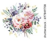 flower bouquet | Shutterstock . vector #697849708