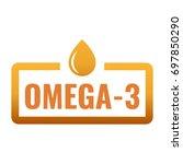 omega 3. badge  icon  logo...   Shutterstock .eps vector #697850290