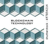 pattern with  block chain.... | Shutterstock .eps vector #697854214