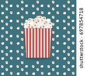 pop corn pattern | Shutterstock .eps vector #697854718
