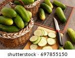 Sliced Cucumbers. Many...