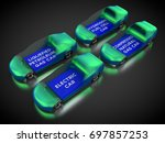 3d rendering  cars powered by... | Shutterstock . vector #697857253