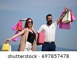man with beard and long haired... | Shutterstock . vector #697857478