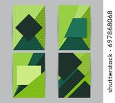 geometric shapes cover design... | Shutterstock .eps vector #697868068