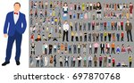 vector  isolated  a collection... | Shutterstock .eps vector #697870768
