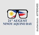 ninoy aquino day vector... | Shutterstock .eps vector #697890400