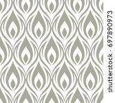 seamless ornamental pattern...   Shutterstock .eps vector #697890973