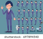 a set of men with who express... | Shutterstock .eps vector #697894540