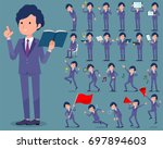 a set of business men with... | Shutterstock .eps vector #697894603