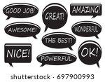 expressing bubble doodle set.... | Shutterstock .eps vector #697900993