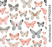vector seamless pattern with... | Shutterstock .eps vector #697902034