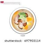 norwegian cuisine  illustration ... | Shutterstock .eps vector #697903114