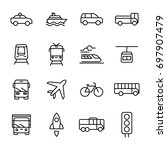 transportation and vehicles... | Shutterstock .eps vector #697907479
