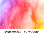 abstract powder splatted... | Shutterstock . vector #697909084