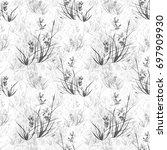 seamless floral pattern ...   Shutterstock . vector #697909930