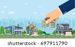 human hand select to holding a...   Shutterstock .eps vector #697911790