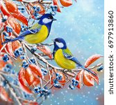 Christmas Greeting Card. Winte...