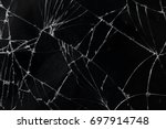 top view cracked broken mobile... | Shutterstock . vector #697914748