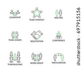 modern flat designed icon set... | Shutterstock .eps vector #697915156