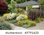 beautiful ideas for garden landscaping - stock photo