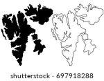svalbard map vector...