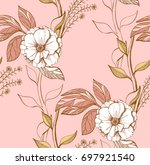 hand drawn seamless pattern... | Shutterstock .eps vector #697921540