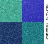 A Set Of Four Aqua Blue Glitte...