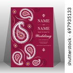wedding invitation card... | Shutterstock .eps vector #697935133