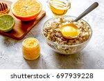 organic citrus scrub homemade... | Shutterstock . vector #697939228