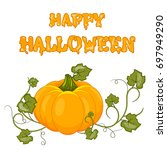 happy halloween. stock vector.... | Shutterstock .eps vector #697949290