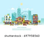 city landscape. modern... | Shutterstock .eps vector #697958560