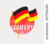 the flag of germany.celebrating ... | Shutterstock .eps vector #697963180