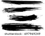 set of grunge brush strokes  | Shutterstock .eps vector #697969249