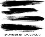 set of grunge brush strokes  | Shutterstock .eps vector #697969270