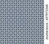 vector retro geometric seamless ... | Shutterstock .eps vector #697971568