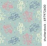 cute pattern butterfly | Shutterstock .eps vector #697972600