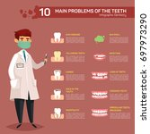 infographic for most popular or ... | Shutterstock .eps vector #697973290